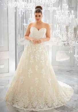Vestido de i Morilee Bridals talla 12-14 color blanco