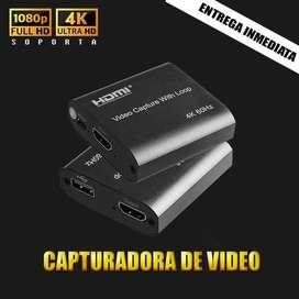 Capturadora De Video Streaming Fhd Hd Hdmi 4k Usb 2 Xbox Ps4