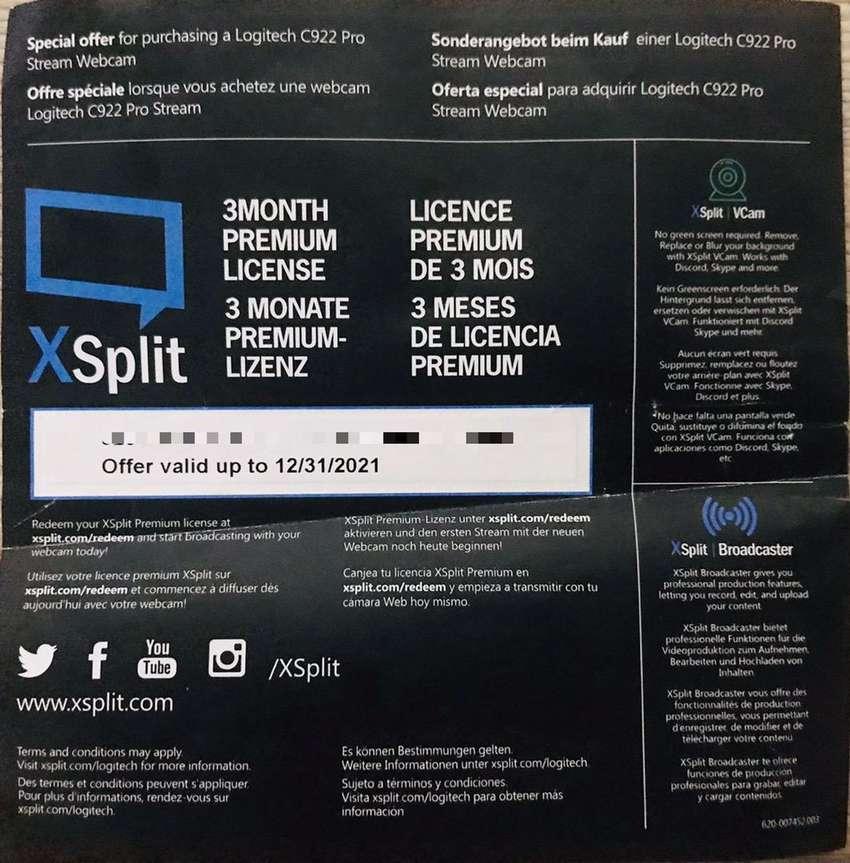 Licencia Xsplit