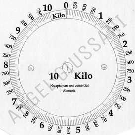 Cuadrantes para Balanzas Y Relojes