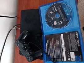 Vendo PS4 Slim con 2 juegos y dos controles