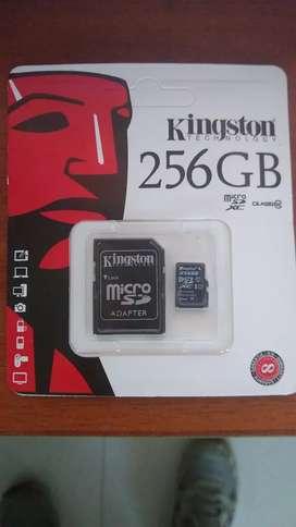 Micro sd Kingston 256 GB class 10 negociable