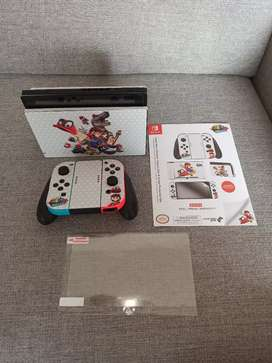 Nintendo Switch Skin & Screen Protector Set con licencia oficial de Nintendo - Super Mario Odyssey Capture