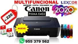 Impresora CANON E402 + Sistema Continuo GRATIS
