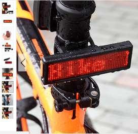 Zatsu  Luz trasera Pantalla de texto Accesorios para bicicletas