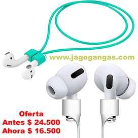 Cable Siliconado Magnetico Para Audifonos Bluetooth AirPods