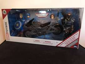 Disney Marvel Toybox Captain America Motorcycle Set