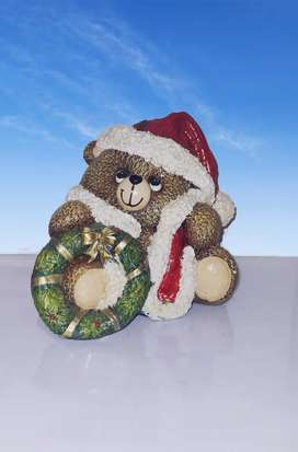 Cerámica de oso navideño