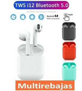 Audifonos  Stereo AirPods I12 Tws Touch Tactil Bluetooth Con Base