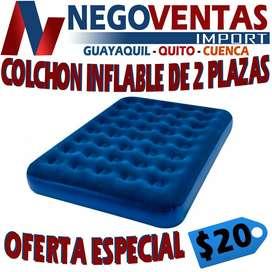 COLCHON INFLABLE DE 2 PLAZA