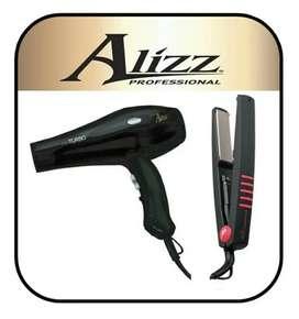 Combo Set Alizz Secador Mini turbo + Plancha Alizz Family - 1 Año Garantía