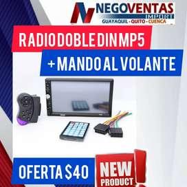 "RADIO DE CARRO DOBLE DIN MP5 DE 7"""