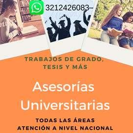 Docentes universitarios para tutorías, docentes primaria y bachillerato, asesoría de tareas y trabajos