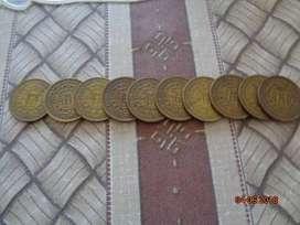 antiguas monedas Peruanas de un sol - año 1965
