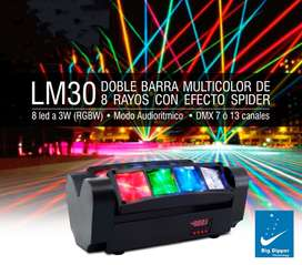 Cabeza Movil Mini Spider Led Ritmica