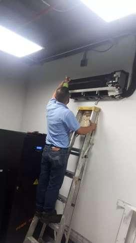 Reparación y mantenimiento de aire acondicionado todas las marcas