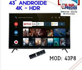 """TV TCL 43"""" 4K ANDROIDE"""
