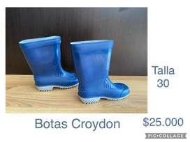 Botas de lluvia pantaneras unisex talla 30 croydon