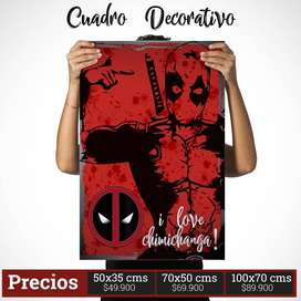 Cuadro Decorativo de Deadpool Comic Style