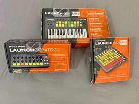 Combo de producción musical Novation (Launchpad, Launchkey y Launch control)