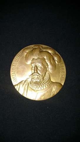 medallon gonsalo ximenes de quesada fundacion de bogota 1538-1938