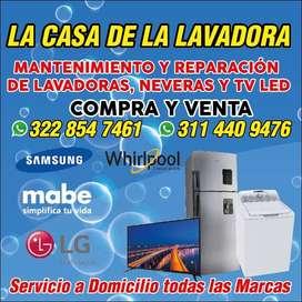 Mantenimiento y reparación de neveras,lavadoras y tv ..