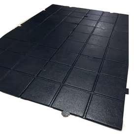 Piso para gimnasio 1 metro cuadrado 1cm