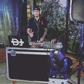 Amplificación de sonido, luces, cámara de humo, Djs, fotografía y vídeo