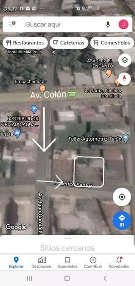 Vendo 2 terrenos en 1 superficie total 20x46 en Milagro a una cuadra de la Av. Colon