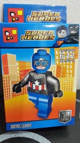 Capitan America Figura Lego Regalo Super Heroe Marvel Avenger