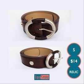 Cinturon ~ Correa De Mujer Importada Marca Relic - Talla S