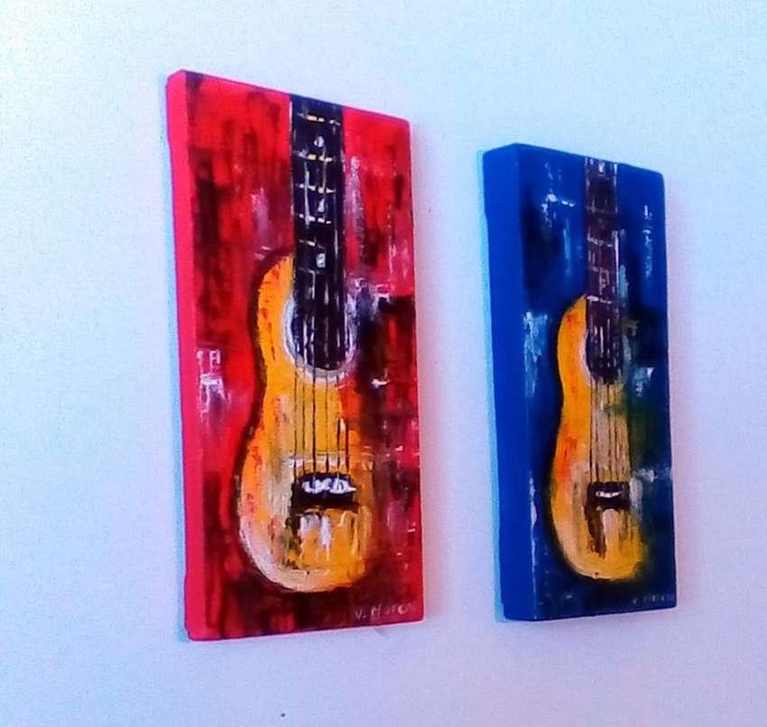 Cuadros decorativos en acrílico sobre lienzo, pequeños formatos y sobre medida, incluyen soporte en madera. 0
