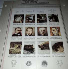 Serie completa Antartica filatelia en bloque ambas 1962-1987