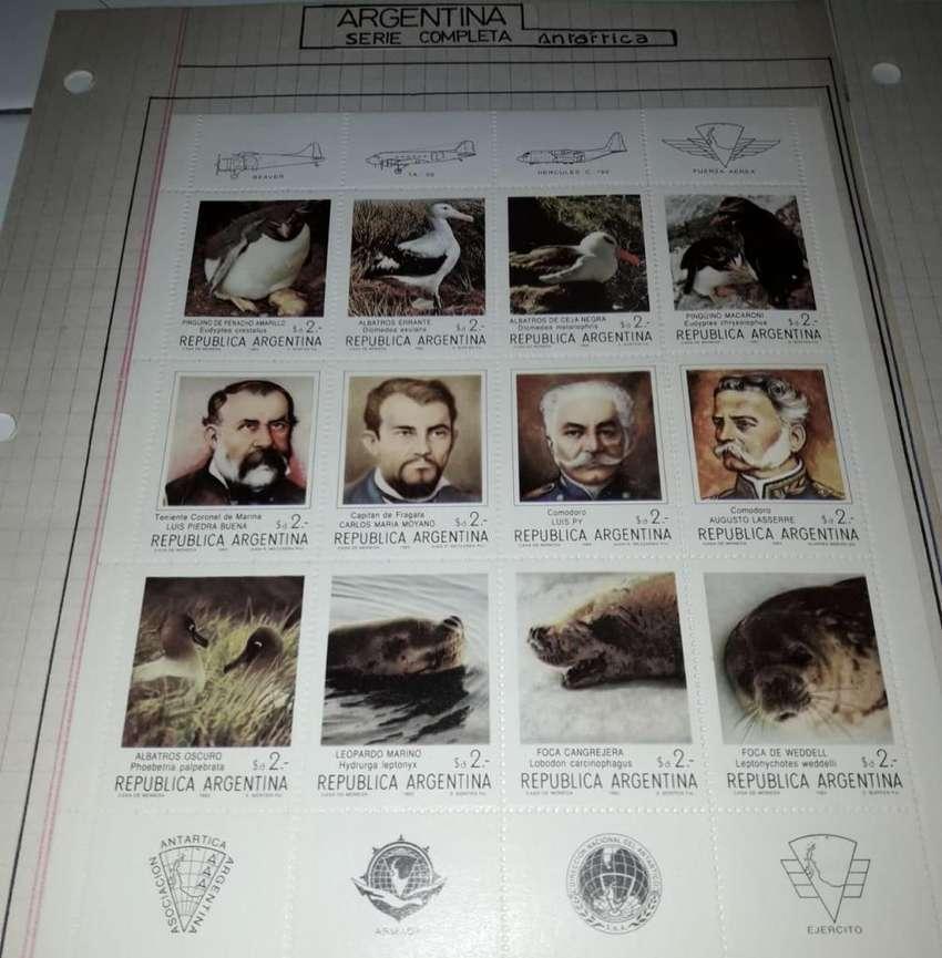 Serie completa Antartica filatelia en bloque ambas 1962-1987 0