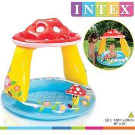 Piscina Inflable Hongo Castillo Intex Para Niños