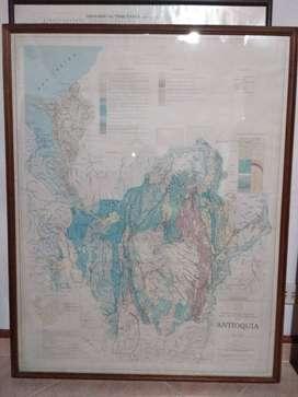 Cuadro Plano Geologico de Antioquia – Mapa Geologia Antioqueña