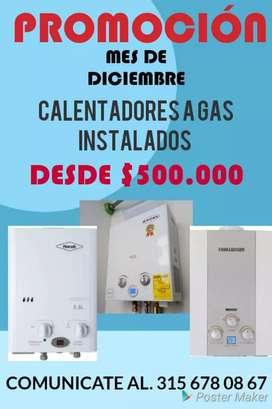 Promoción de diciembre calentadores de gas instalados