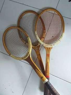 Raquetas de madera para tenis squats