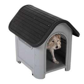 Casa Plástico Perros Pequeños, Gatos. Lavable, sin Puerta. Ventilacion