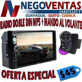 RADIO PANTALLA DOBLE DIN + MANDOS AL VOLANTE EN OFERTA