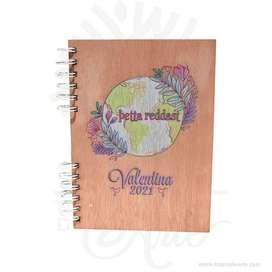 Cuaderno tapa madera impresión UV – Precio COP