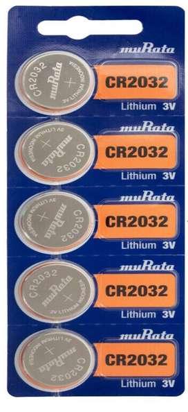 3 Batería Pila Cr2032 Murata (Antes fabricada por Sony) Original Litio, 3v, Pack X 5 pilas