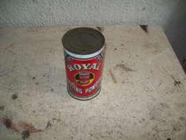 lata royal, polvo de hornear muy antiguo