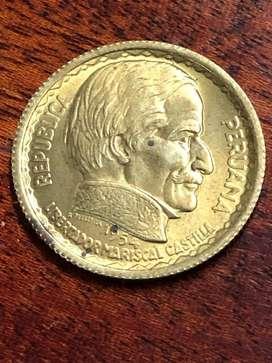 Moneda 20 Cent.Ramon Castilla 1954 Vf