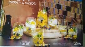 Hermoso set de jarra+vasos