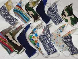 Tapabocas lavable doble faz,diseños
