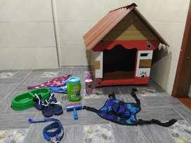 Casa para perro más accesorios