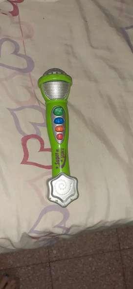 Microfono juguete musical para bebé o niño