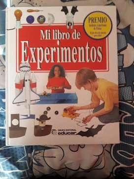VENDO LIBRO DE EXPERIMENTOS