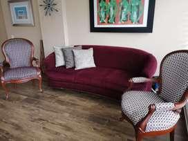 Vendo juego de sofá con 2 Isabelinas en perfecto estado